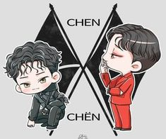 Find images and videos about kpop, art and exo on We Heart It - the app to get lost in what you love. Exo Chen, Park Chanyeol, Baekhyun, Exo Kokobop, Kpop Exo, Got7, K Pop, Exo Cartoon, Exo Stickers