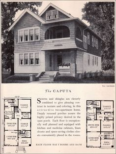 The Caputa  1929 Home Builders Catalog. This exact duplex was across the street from the house I grew up in.