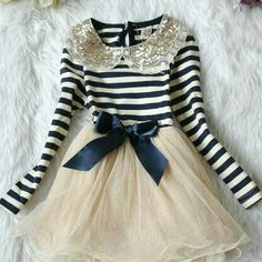 Stripped top with lacey skirt