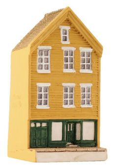 "Bryggen I Bergen, ""Gult"" - Lillesand Design AS Miniature Houses, Norway, Shed, Outdoor Structures, Cabin, House Styles, Handmade, Design, Home Decor"