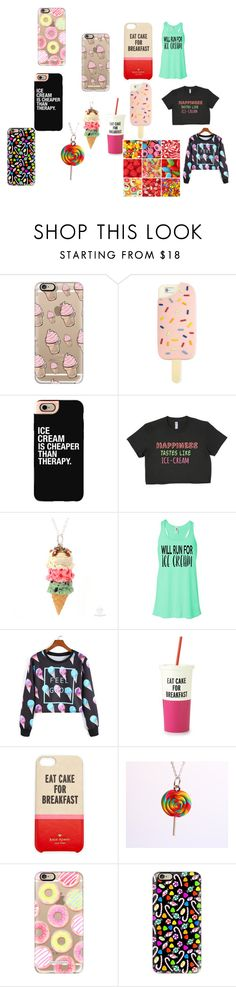"""Sweet Set For T"" by queen-daisy156 ❤ liked on Polyvore featuring beauty, Casetify, Tory Burch and Kate Spade"