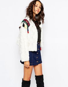 Native+Rose+Out+Of+Mongolia+Faux+Fur+Crop+Jacket+with+Embroidered+Epaulettes