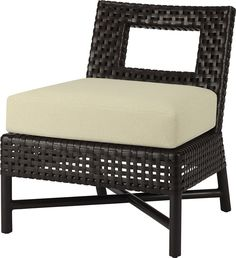 Slipper Chair by Antalya - Open Weave, Antalya, Outdoor Furniture, Outdoor Decor, Seat Cushions, Room Inspiration, Ottoman, Dining Chairs, Lounge