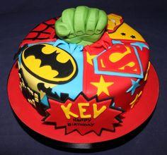 pow superhero birthday cake (640x597).jpg (640×597)