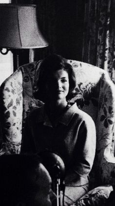 Jackie talks to the press following her husband's presidential nomination, July 1960.