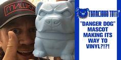 "Tenacious Toys' ""DANGER DOG"" mascot making its way to VINYL?!?! #DesignerToyArtToy #Dog #LimitedEdition #NemO"