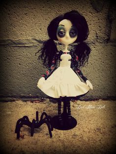 Gothic Art Doll, OOAK Handmade Dark Manor Doll: Luna & Clyde