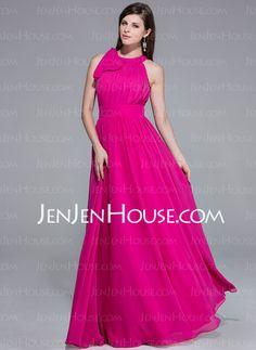 Evening Dresses - $129.99 - A-Line/Princess Scoop Neck Floor-Length Chiffon Evening Dress With Ruffle Inspired by 84th Oscar (017026074) http://jenjenhouse.com/A-Line-Princess-Scoop-Neck-Floor-Length-Chiffon-Evening-Dress-With-Ruffle-Inspired-By-84th-Oscar-017026074-g26074