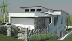 downward sloping block with raised house - Google Search | Casa ...