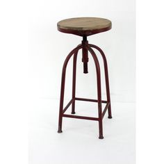 Red Adjustable Metal Stool - Overstock Shopping - The Best Prices on Bar Stools