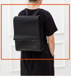 Minimalist black leather backpack crafted out of 100% genuine leather. Timeless design and quality duo that provides exceptional durability and will reliably serve you for many years. This handmade rucksack is spacious so you can easily fit your laptop, A4+ size and other essential items. Leather is Small Backpack, Retro Backpack, Stylish Backpacks, Black Leather Backpack, Timeless Design, Best Bags, Natural Leather, Unisex, A4 Size