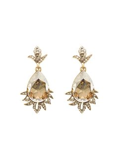 Oscar de la Renta - Swarovski Crystal Teardrop Earrings