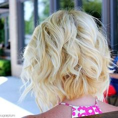 Back View of Angled Piecey Bob Haircut - Wavy Bob Cut for 2014