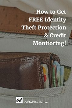 How to get FREE Identity Theft Protection and Credit Monitoring! Find Out How I Get My Credit Report, Score, Rating, Protection and Credit Monitoring All for FREE! Learn how to get your free credit report and free credit score in minutes, anytime. You'll also learn how to get free identity protection and free credit monitoring and alerts. Read this article to find out how! Url: http://oddballwealth.com/get-free-credit-report-credit-score-protection-monitoring/ #Credit #Finance #CreditReport…