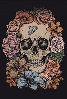 Witchy Wallpaper, Skull Wallpaper, Painting Inspiration, Art Inspo, Cute Wallpapers, Wallpaper Backgrounds, Skeleton Art, Alien Art, Goth Art