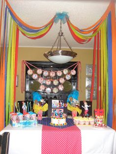 Crepe Paper Canopy - CIRCUS PARTY