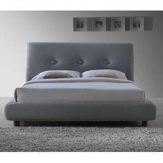 Estepas Upholstered Bed Frame Home Loft Concept Colour: Grey, Size: Kingsize Bed Frame With Mattress, King Bed Frame, Upholstered Bed Frame, Upholstered Ottoman, Upholstered Platform Bed, Ottoman Storage Bed, Ottoman Bed, Bed Storage, Tv Beds