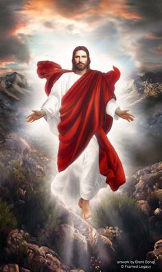 The Lord Jesus Christ. Our Heavenly Father sent His Son, Jesus Christ, to be our Savior and show us the way to true happiness by living. Images Du Christ, Pictures Of Jesus Christ, Religious Pictures, Religious Art, Jesus Pics, Jesus Our Savior, Jesus Is Lord, Image Jesus, Christian Art