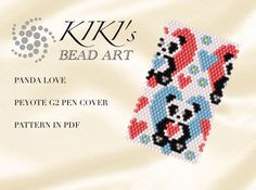 This is an own designed pen cover/ pen wrap pattern using even single drop peyote technique. This wrap/cover fits for G2 pens by Pilot. A pen with this cover can be a perfect personalized gift for a friend or a colleague. I use size 11 Japanese Miyuki Delica seed beads for my designs.