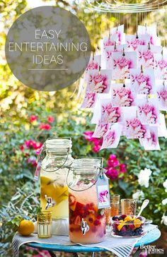 Time to party! Look here for great ideas for entertaining -- indoors and out.