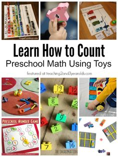 Learn how to count with preschoolers using toys as learning tools! Teaching 2 and 3 Year Olds
