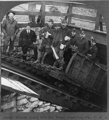 Coal miners in Hazleton PA, USA, 1905