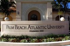 Palm Beach Atlantic University. One of the other colleges I'm looking at
