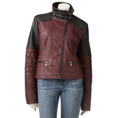 Fleet Street Colorblock Motorcycle Jacket - Women's