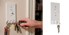 Switch Hooks - Light Switch Cover With Key Hooks