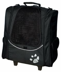 Pet Gear I-GO2 Escort Roller Backpack for cats and dogs, Black - http://www.thepuppy.org/pet-gear-i-go2-escort-roller-backpack-for-cats-and-dogs-black/