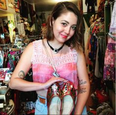 Meagan is adorable showing off her new Egyptian flats she just picked up at the shop! She is such a talented artist, too!