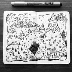 Dave Garbot — The Morning Run #illustration #drawing #penandink...