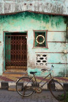 Pondicherry on the Southern Indian coast. Love these Colours.