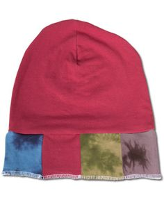 NEW! Organic Patch Hatwith a mix of subtle tie-dye and solid colored #patchwork