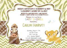 Baby Simba Shower Invitations Lion King