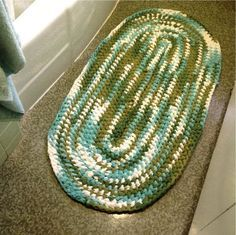 Learn how to crochet a rug out of old fabric with these rag rug instructions and photos.