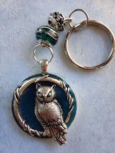 Night Watcher Glowing Owl Keychain Glow in by FreshwaterMermaids