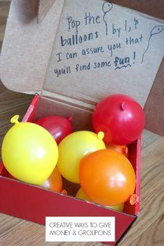 creative ways to give money