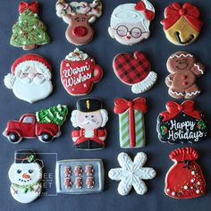 fancy christmas cookies Weihnachtspltzchen Decorated Christmas Cookies from Bee in our Bonnet Cute Christmas Cookies, Iced Cookies, Christmas Sweets, Noel Christmas, Fun Cookies, Christmas Goodies, Holiday Cookies, Holiday Treats, Christmas Baking
