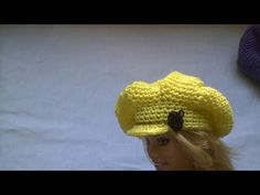 Boina com aba para boneca barbie - YouTube