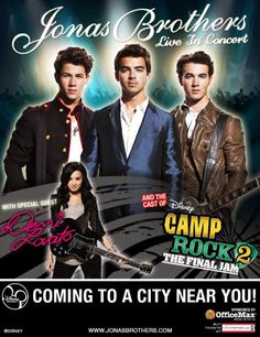 Camp Rock 2 tour with Demi, Jonas, and Alyson Stoner (great dancer)