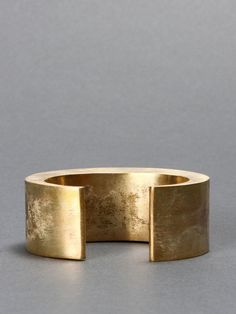 PARTS OF FOUR HOLLOW CRESCENT BRACELET WITH FOUR BAR CUT OUT LOGO - REAL GOLD PLATED