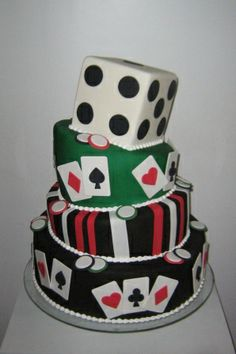 Daisy Cakes: O bolo pode ser uma jogada a mais quando o tema da festa for cassino.....