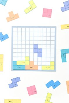 Play a classic video game in a new way with a printable version of Tetris! Diy Craft Projects, Diy Crafts For Kids, Craft Ideas, Video Game Crafts, Paper Games, Paper Toys, Printable Activities For Kids, Educational Games For Kids, Diy Games