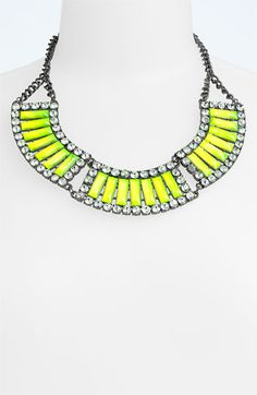 make a statement  #neonlove  Jewelry Fashions Bead & Crystal Collar Necklace available at #Nordstrom #TrendAccessories
