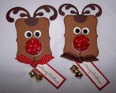 Sweet Treat Cup Top Note Reindeer - bjl