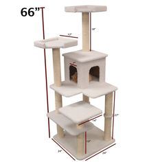 """Review for this awesome cat tree!   Overall the tree is high quality, stable and very sturdy. Its been able to withstand my cats jumping from top to bottom without tipping over or wobbling too much. My cats are certainly enjoying the height of the tree and love sleeping in the cat condo! I am extremely satisfied with the product and the professional and genuine service."""""""