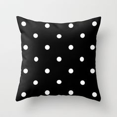 white dots Throw Pillow by BRUTTO - $20.00
