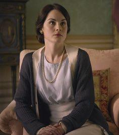 Michelle Dockery as Lady Mary Crawley in Downton Abbey (2010).