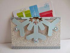 Paper Seedlings: SNOWFLAKE GIFT CARD HOLDER